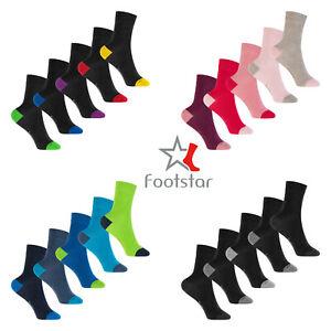 10 Paar Kinder Socken aus Baumwolle mit abgesetzter Ferse und Spitze