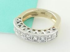 Sunning Ring Yellow Gold and White gold  14k Diamond Ring Size 6.5