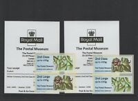 WINTER GREENERY NOV 2018 POSTAL MUSEUM CL17S BNGB18 TWO COLLECTOR STRIPS Post Go