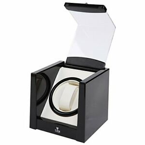 Premium Automatic Single Watch Winder in Piano Black