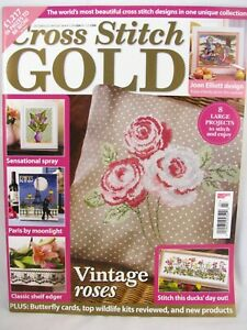 Cross Stitch Gold UK Magazine Issue 38 October 2013 Roses Paris Butterfly Cards