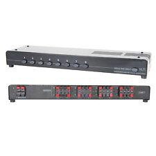 8 Port/Way 200W Stereo Speaker Splitter - Amplifier Distribution Selector Switch