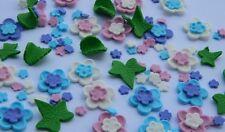 60 edible FLOWER LEAVES KIT cake topper decoration CUPCAKE wedding FALL harvest