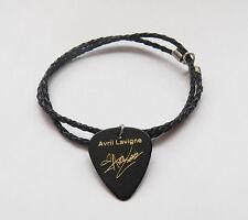 "AVRIL LAVIGNE guitar pick plectrum braided LEATHER NECKLACE 20"""