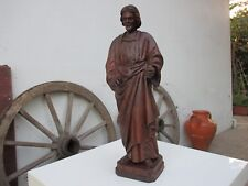 ANTIQUE SCULPTURE CHRIST SACRED ART WOOD CARVING HANDMADE RELIGIOUS STATUES