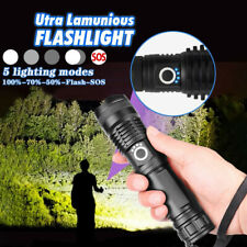 Emergency Ultra Bright XHP50 5 Modes LED USB Rechargeable Flashlight Torch