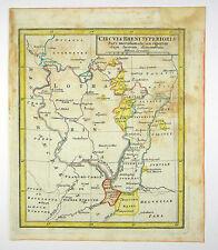LOTHRINGEN BASEL SCHWEIZ ELSASS EUROPA ALTKOL KUPFER KARTE FRANZ 1758 #D862S
