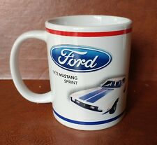 1972 Ford Mustang Sprint coffee cup tea mug official authentic red white Blue
