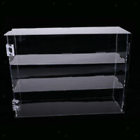 Clear Acrylic Showcase Counter Display Stand Case with 3 Shelves & Door
