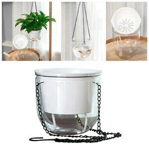 Transparent Self-watering Plant Flower Pot Wall Hanging Planter Home GardenDecor
