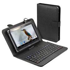 """Tablet Schutzhülle Tasche bis 20cm 7"""" / 8"""" Tastatur QWERTZ MicroUSB Smartphone"""