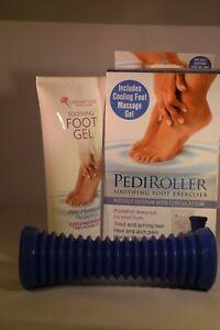 Carnation Pedi Roller With Soothing Foot Exerciser Large Blue & Cooling Gel