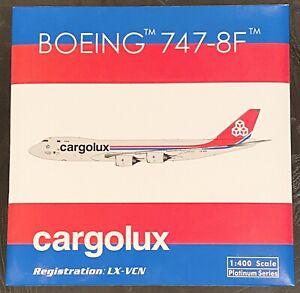 Phoenix 1:400 Cargolux B747-8F Reg : LX-VCN Current Livery. Brand New & Sealed
