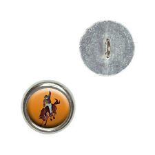 Rodeo Cowboy Orange - Western Horse Country - Sewing Novelty Buttons Set of 4