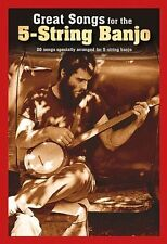 Great Songs For The 5-String Banjo Play Pop Beatles Bob Marley ADELE Music Book
