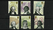 QE11 2007 FU SG2728/33 ABOLITION OF SLAVERY  STAMPS SET