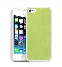 Backhug Slim Case for Apple iPhone 5 5s Silver Frame Saffiano Lime Leather Korea