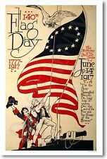 Flag Day - 1777 American Independence Vintage Patriotic NEW Artwork POSTER