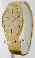 Audemars Piguet Vintage 18k Yellow Gold Mens Wrist Watch & Box 44698