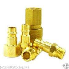 5pc HI-FLO Brass Coupler Set, Larger 1/4 Internal Diameter Solid Brass