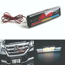 1Pcs JDM MUGEN LED Light Car Front Grille Badge Illuminated Decal Sticker