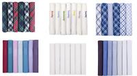 Mens Handkerchiefs 100% Cotton Boxed Hankies Hankys Mens Quality Gift 6/7 Pack