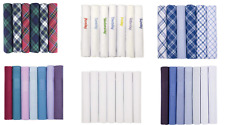 Mens Handkerchiefs 100% Cotton Boxed Hankies Hankys Mens Quality Gift 6/7 Pack