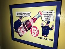 Pepsi Cola Cops Soda Fountain Diner Bar Framed Advertising Print Man Cave Sign