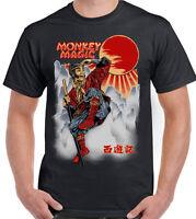 MONKEY MAGIC T-SHIRT Mens Retro Chinese Fantasy TV Show Martial Arts 70's 80's