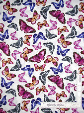 Butterfly Butterflies Purple Cotton Fabric Kanvas Studio C6543 Papillon - Yard