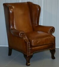 JOHN LEWIS COMPTON BROWN LEATHER ARMCHAIR FEATHER FILLED CUSHION RRP £1499