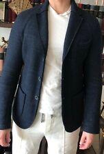 Mason's Men  Navy Sport  Wool Linen Jacket deconstructed 46 IT/ US 36