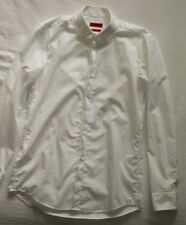 Hugo Boss Men's Slim Fit White Shirt Size 39 15 1/2 Good Used Condition