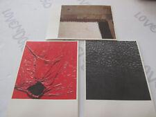 Lotto di 3 cartoline ALBERTO BURRI fondazione Città di Castello