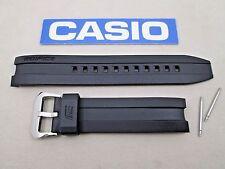 Genuine Casio Edifice EMA-100 black resin rubber watch band strap + pins