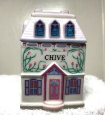 OLDER 1989 LENOX  THE LENOX SPICE VILLAGE Chive  HOUSE FINE PORCELAIN