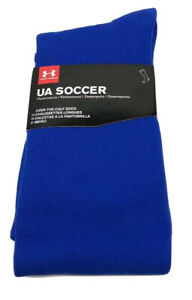 Under Armour Men's Over The Calf Soccer Socks Size Medium Blue NIP
