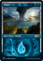 Island (310) - Foil - Showcase x4 Magic the Gathering 4x Magic 2021 mtg card lot