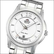 Orient Lexington Day and Date Automatic Dress Watch with White Dial #EV0M001W