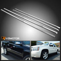 2007-2009 Chevy Suburban Avalanche 4PC Stainless Side Door Molding Trim