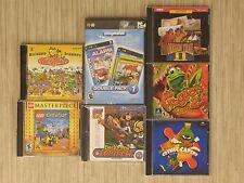 Lot of 7 Kid's PC Video Games Oregon Trail II Frogger 2 Lego Masterpiece Creator