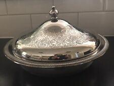 Antique Grosvenor Quality Silverware 28cm Lidded Serving Platter
