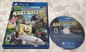 Nickelodeon Kart Racers PS4 (Sony PlayStation 4, 2018) Cleaned, Tested, Works