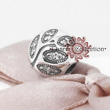 Pandora, S925 Sparkling Leaves Clip Bracelet Charm, NEW, 791416CZ