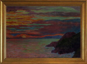 Classic Framed Diego Rivera Sunset 5 Giclee Canvas Print