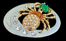 RHINESTONE SPIDER SPIDERWEB BUG BEETLE BELT BUCKLE BUCKLES