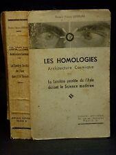 LES HOMOLOGIES - ARCHITECTURES COSMIQUE - LEFEBURE [Francis] ÉSOTÉRISME