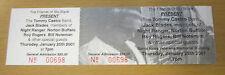 2001 Jack Blades Night Ranger Tommy Castro Santa Rosa Ca. Concert Ticket Stub