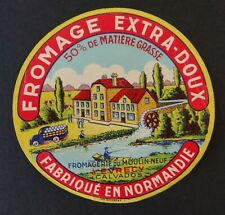 Etiquette fromage FROMAGERIE DU MOULIN-NEUF Evrecy French cheese label 2