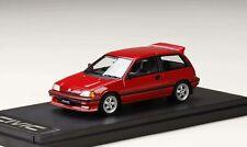 PM4399CR MARK43 1:43 Honda Civic Si (AT) 1984 MUGEN MR-5 Wheel equipped car red